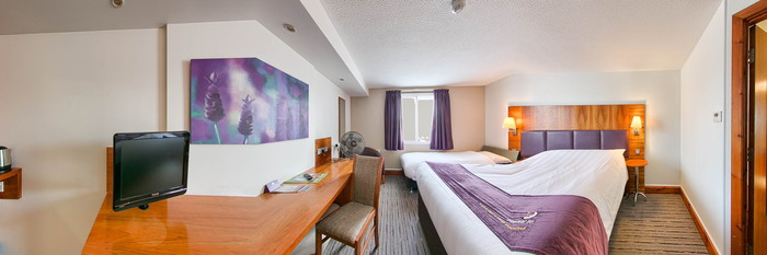 Panorama of the Triple Room at the Premier Inn Blackpool East (M55, Jct4) Hotel