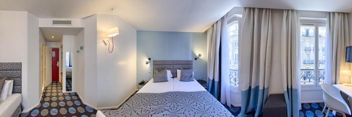 Panorama of the Triple Room at the Hotel Astoria Opera - Astotel Paris