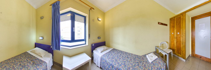 Panorama of the Twin Bedroom at the Lagos Youth Hostel