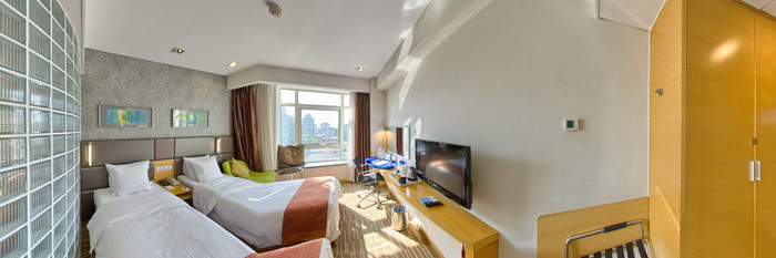 Panorama of the Twin Room at the Holiday Inn Express Beijing Dongzhimen
