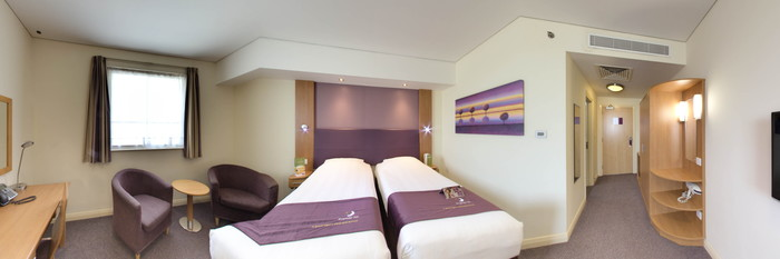 Panorama of the Twin Room at the Premier Inn Dubai Silicon Oasis