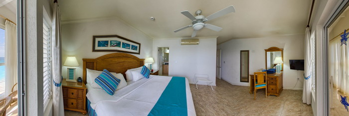 Panorama of the Two Bedroom Apartment at the Beach View
