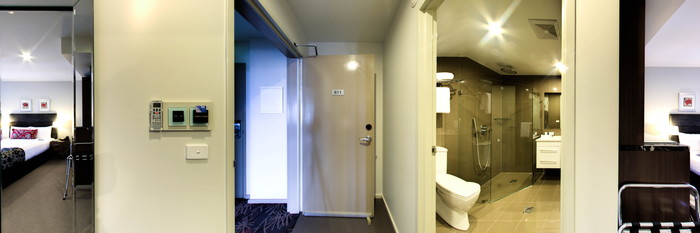 Panorama of the Two Bedroom Apartment at the Aria Hotel Canberra