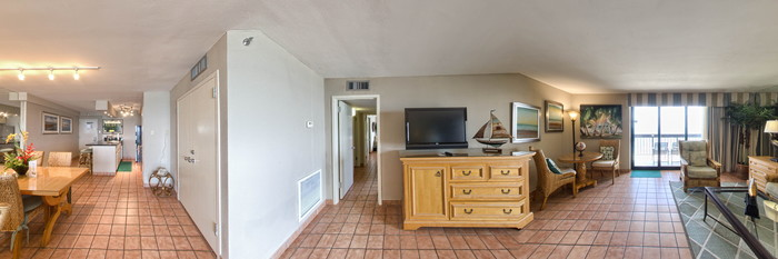 Panorama of the Two-Bedroom Condominium at the Pearl South Padre