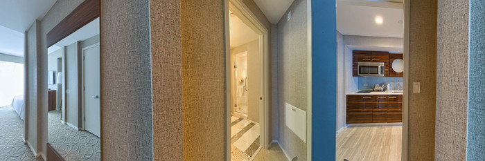 Panorama of the Two Bedroom Corner at the Conrad Fort Lauderdale Beach