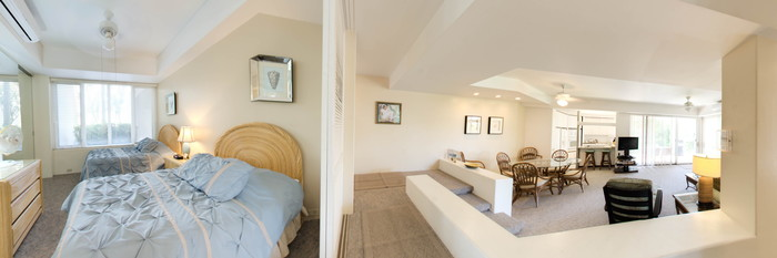 Panorama of the Two Bedroom Garden Villa Deluxe at the Palms at Wailea Maui by Outrigger