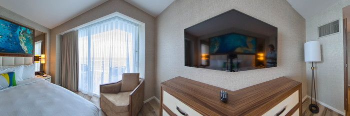 Panorama of the Two Bedroom Ocean Front at the Conrad Fort Lauderdale Beach