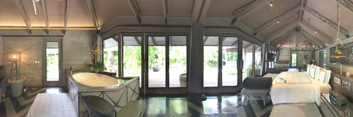 Panorama of the Two Bedroom Private Pool Villa at the The Slate