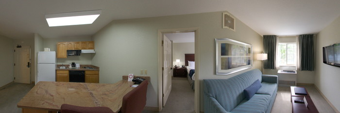 Panorama of the Two Bedroom Suite at the Comfort Suites Seven Mile Beach