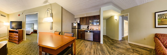 Panorama of the Two Bedroom Suite at the Homewood Suites Tallahassee