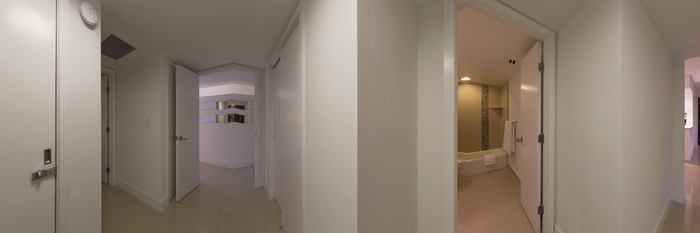 Panorama of the Two Bedroom Suite with Balcony at the Bal Harbour Quarzo