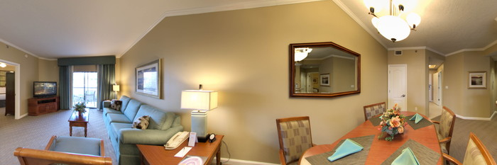 Panorama of the Two-Bedroom Villa at the Caribe Royale All-Suite Hotel & Convention Center