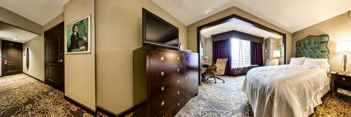 Panorama of the Two Queen Guest Room at the Grand Bohemian Hotel Orlando, Autograph Collection