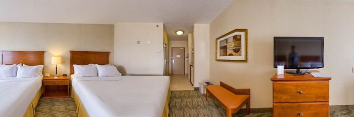 Panorama of the Two Queen Standard at the Holiday Inn Express Hotel & Suites Edmonton South