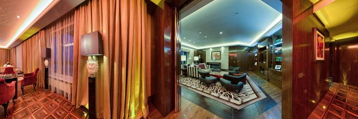 Panorama of the Ulanova Royal Suite at the InterContinental Moscow Tverskaya Hotel