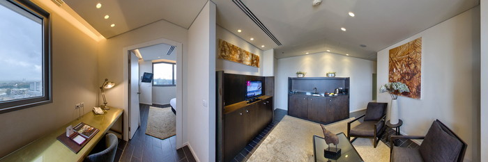 Panorama of the Weizmann Suite at the Leonardo Boutique Rehovot