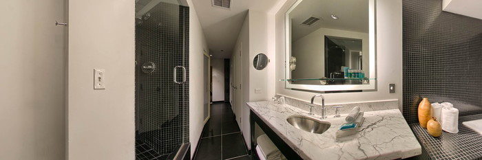 Panorama of the WOW Suite at the W Chicago - City Center