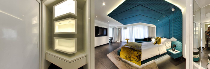 Panorama of the Wow Suite Room at the W Bogota Hotel