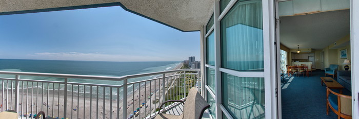 Panorama of the XC Two Bedroom at the Carolinian Beach Resort