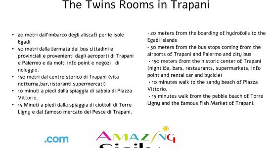 The twin Rooms in Trapani