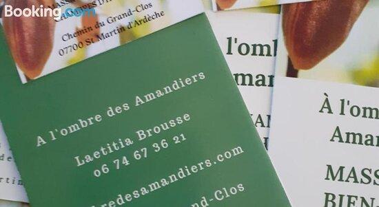 À l'ombre des Amandiers St Martin d'Ardèche