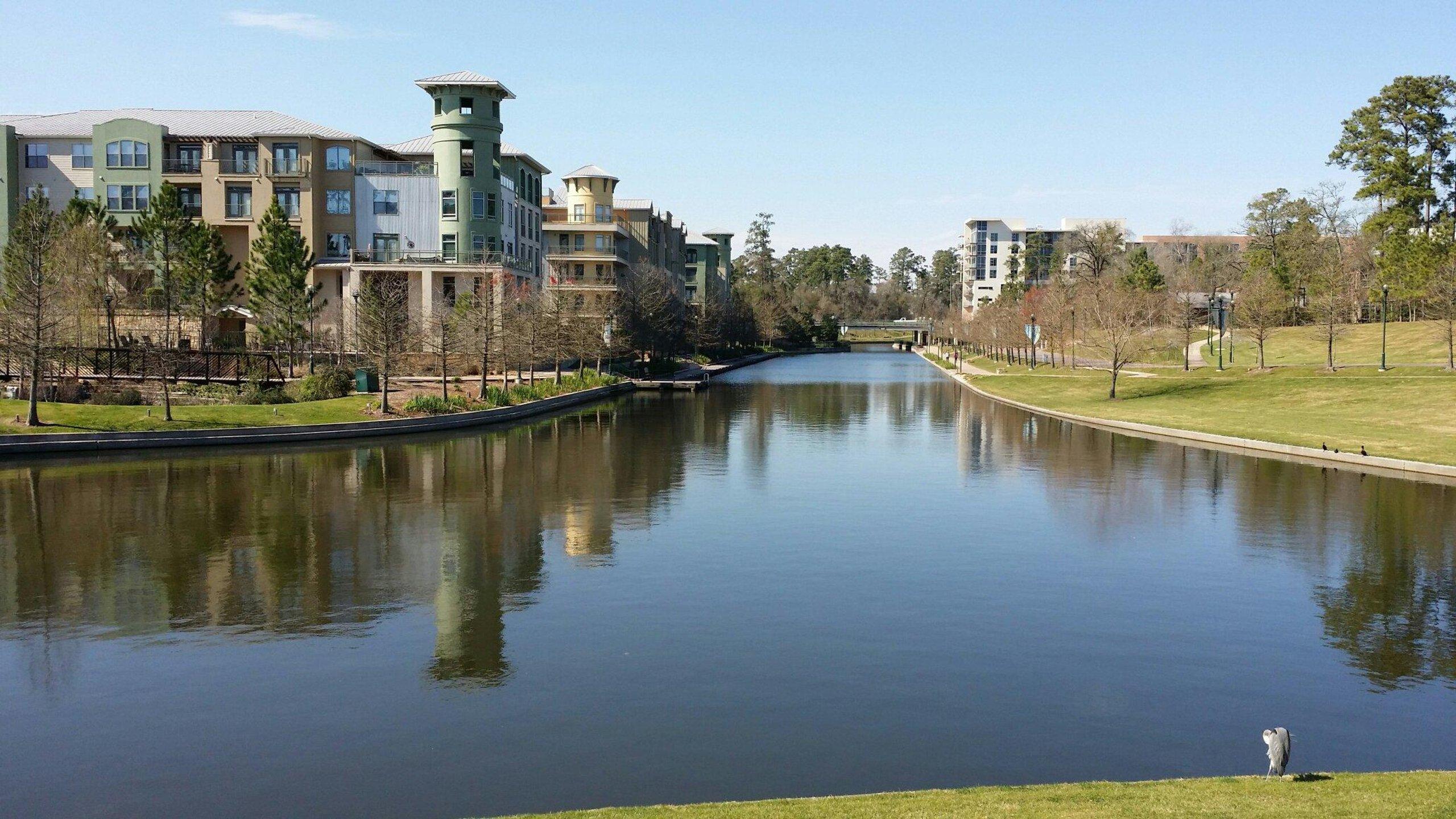 Обои техас, Вода, дома, Woodlands Waterway, сша, канал. Города foto 15