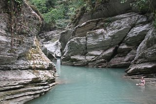 Wet Canyon of River Psakho