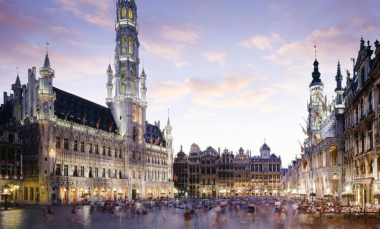 A wonderful image of the central square in Brussels