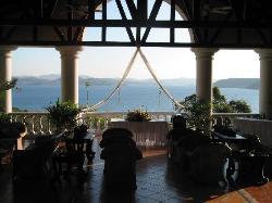 View from El Mirador Bar (Reception)