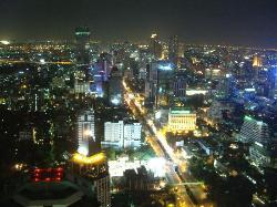 Bangkok at night - 62 floors up!