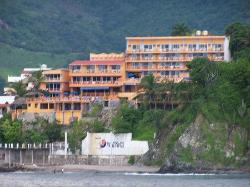 Hotel Irma on Playa Madera, from a cruise of the Zihua Bay