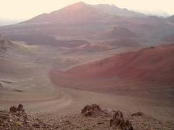 The crater after sunrise