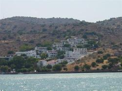 View of the hotel from the bay