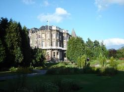 View of the hotel from the garden