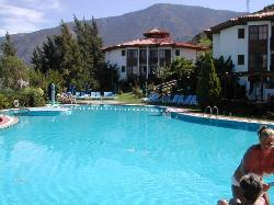 Smaller pool by lower rooms