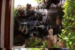 waterfall in lobby