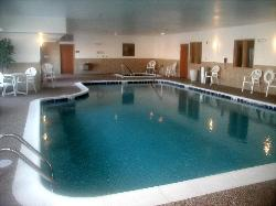 The indoor pool is heated and crystal clear.