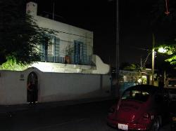 The Tamarindo at night from the street.