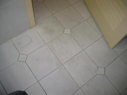 Bathroom floor in guest room