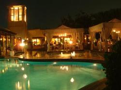 Eau Zone Restaurant at night