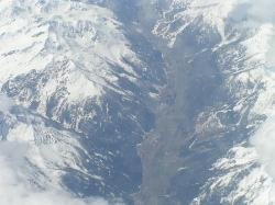 swiss alps from plane