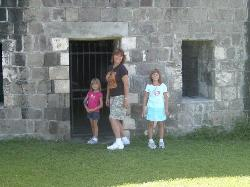 Brimstone Hill Fortress posing
