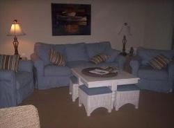 Living room in the condo