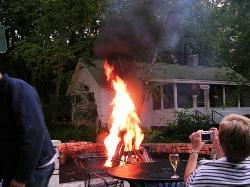 Added kerosene to fire
