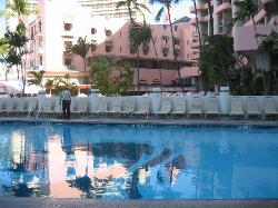 Swimming pool early in the morning