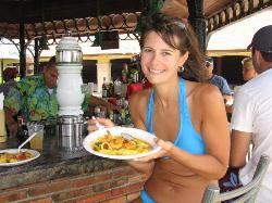 Paella lunch - yum!