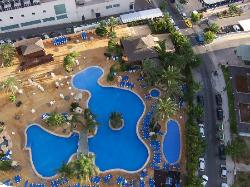 View of pool from 22nd floor