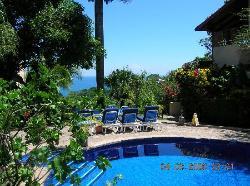 Pool area at Villas Nicolas