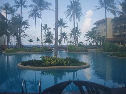 another view of the pool towards the beach