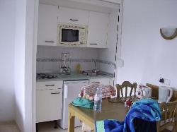 The Kitchen area.....excuse the mess!